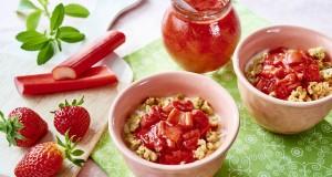 Dżem truskawkowo – rabarbarowy